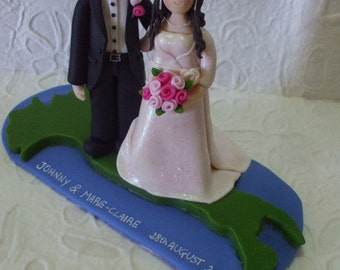 italian funny wedding cake topper