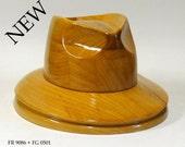 WK 1283 - Wooden hat block, millinery, hut form, form a' chapeau, fascinator, forma kapeluszowa