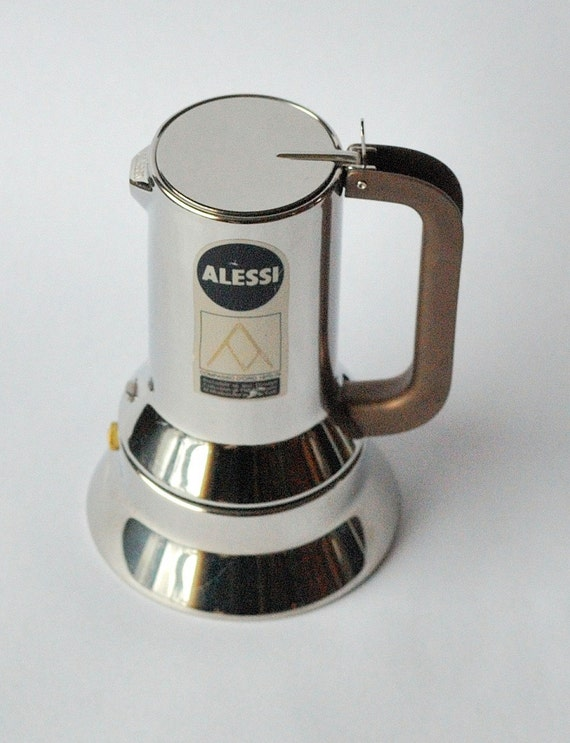 Alessi 9090 Stainless Espresso Coffee Maker 3 Cup Stove
