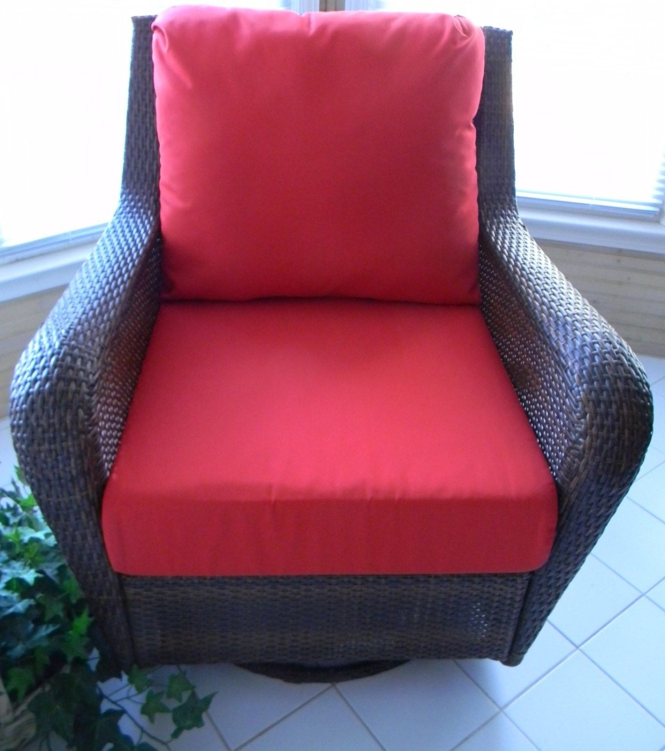 Red Cushion Set For Patio Indoor Outdoor Deep Seat Furniture