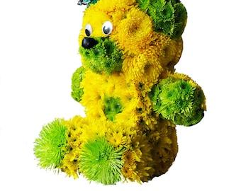Flowers Teddy Bear Bouquet Fresh Floral Plush Toys Unique Present Gift