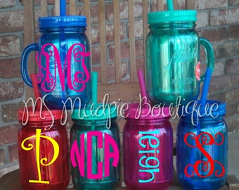 Items Similar To Personalized Double Insulated Mason Jar