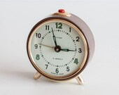 Wind Up Alarm Clock, Vityaz Soviet Desk Clock, USSR Vintage, Desk Decor, Brown gold