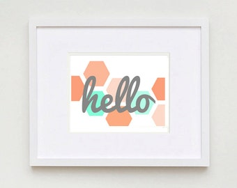 Hello Printable Sign || Instant Download