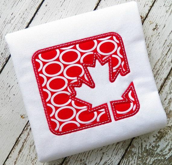 CANADA PATCH Machine Embroidery Design