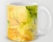 Yellow Flowers Mug (Original Watercolor Patter-11oz or 15oz)