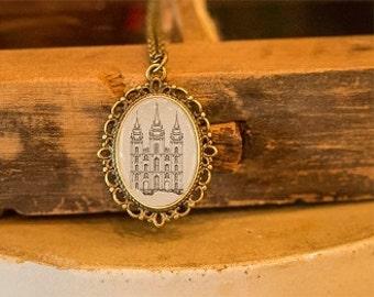 Salt Lake Temple 1853 Necklace