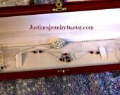 SOLD/Silver Greek Goddess Necklace/Earring Set