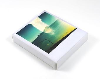 Polaroid Shape Canvas, Roadside Light Leak, Photography on Canvas Print, Mini Artwork, Handmade