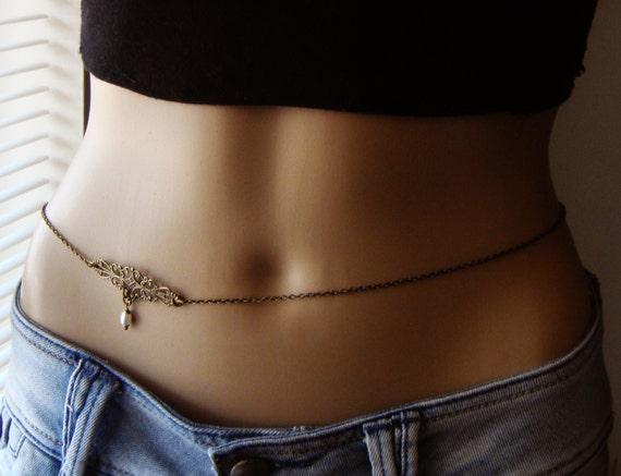 Belly Chain Body jewelry Waist Chain Bronze Body Jewelry