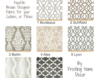 New Premier Prints Taupe Brown, Fabric Valance, Window Treatments, Drapes, cafe Curtains, Nursery Curtains, Baby Room Decor