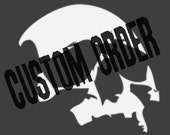 8 Custom Two Cat Silhouette Tote Bags