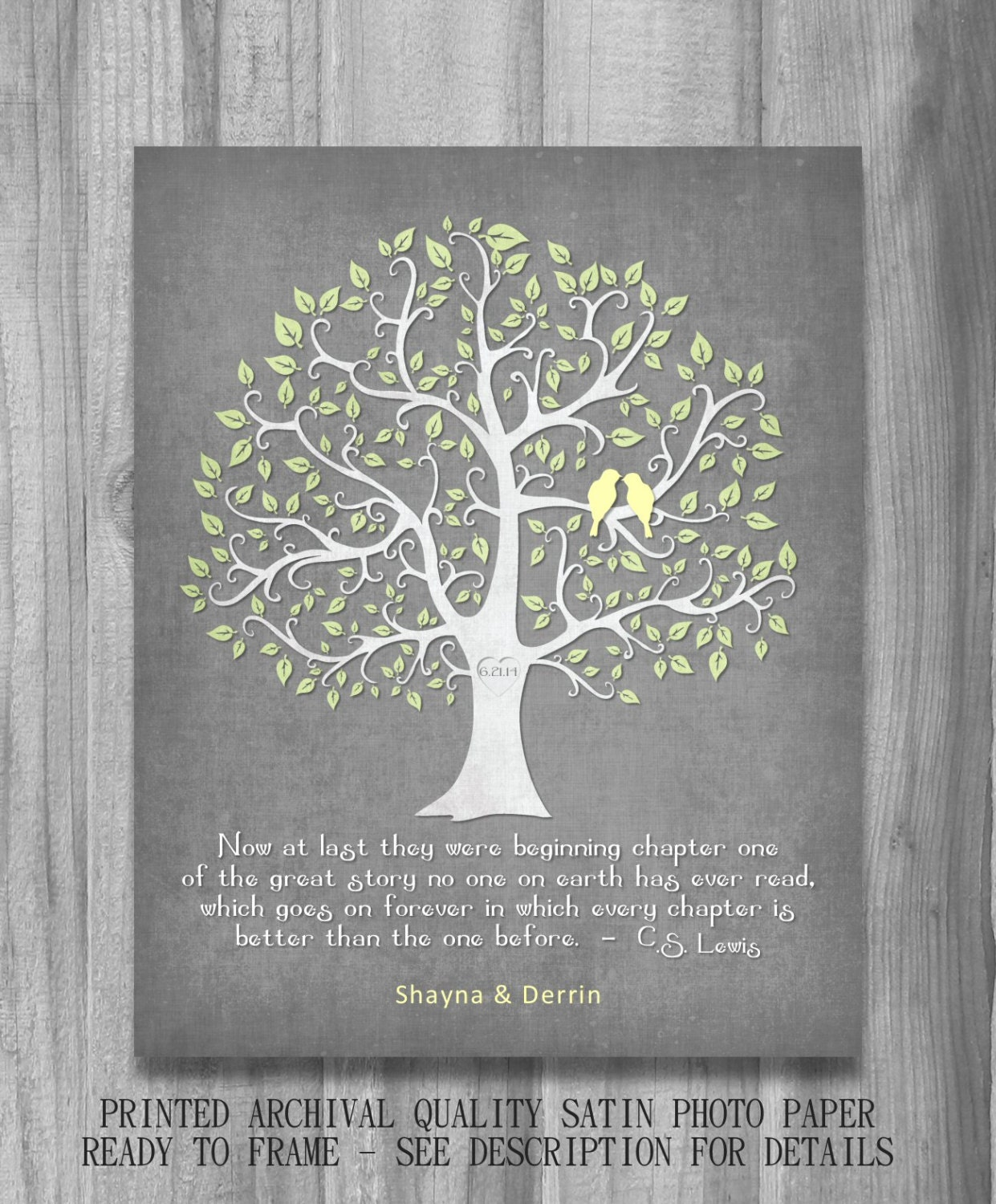 Personalized Wedding Gift Print Marriage CS Lewis Or CUSTOM