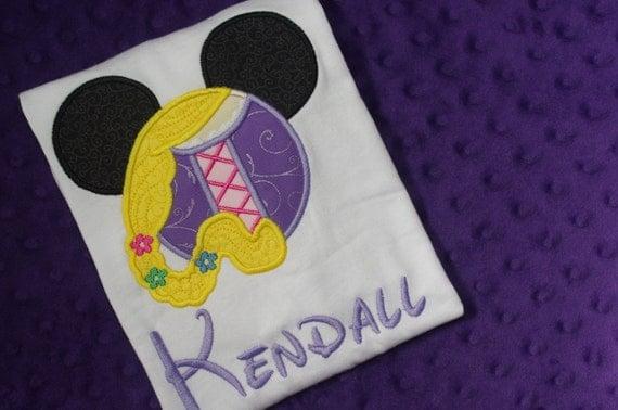 Rapunzel Disney Mickey Mouse Ears Appliquéd Shirts or by ...