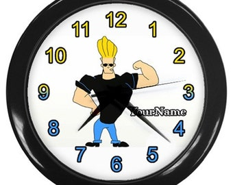 Johnny Bravo Personalized Wall Clock - Great Birthday Gift Boys