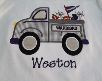 Boy Football Shirt-Boy Game Day Shirt- Personalized Birthday Shirt-Boy Birthday Shirt-Boy Truck Shirt-Boy Team Spirit Shirt-