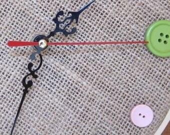 DIY Wall Clock Movement, DIY clock, Hour, Minutes and Second Hands, long arms, ShineKidsCrafts