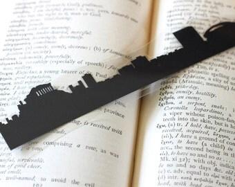 Athens, Greece - Hand-cut Silhouette Bookmark, Athens Skyline, Parthenon, Travel Bookmark, Cut Paper, Skyline Silhouette
