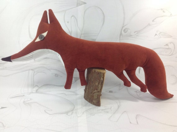 Animal Shaped Nursing Pillow : Fox cushion /pillow animal shaped woodland pillow handmade