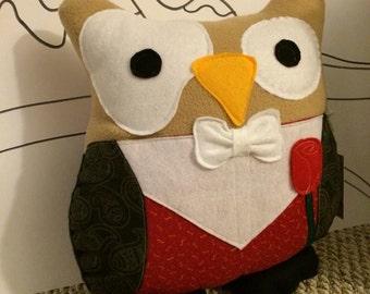 Phantom of the Owlpra Owl Pillow