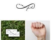 Infinity Faith Symbol - Temporary Tattoo (Set of 2)