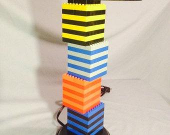 LEGO® Lamp - Multicolored Rainbow Stacked Box Lamp