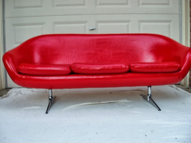 vintage overman curved arm sofa