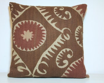 20x20 inch suzani pillow 50x50 cm suzani cushion embroidery pillow suzani throw pillow. Black Bedroom Furniture Sets. Home Design Ideas
