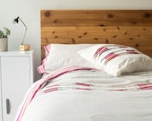 King size Duvet Cover in Cream + Pink