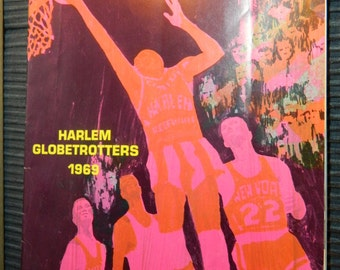 1969 Harlem Globetrotters Abe Saperstein's Magicians of Basketball Booklet Magazine / Magazine Format Basketball Harlem Glovetrotters