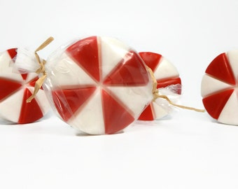 Peppermint Candy Soap- Four Piece Set