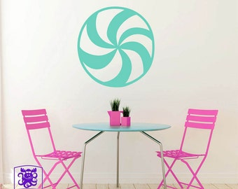 Peppermint Candy Wall Decal Decor