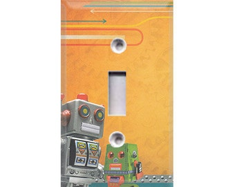 Robots Light Switch Cover