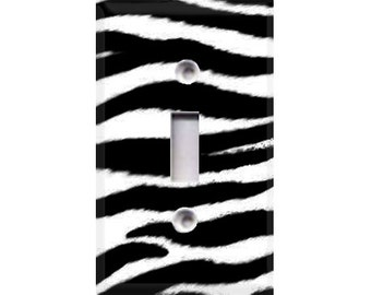 Zebra Print Light Switch Cover