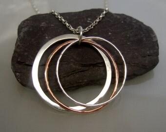 Trinity hoop pendant