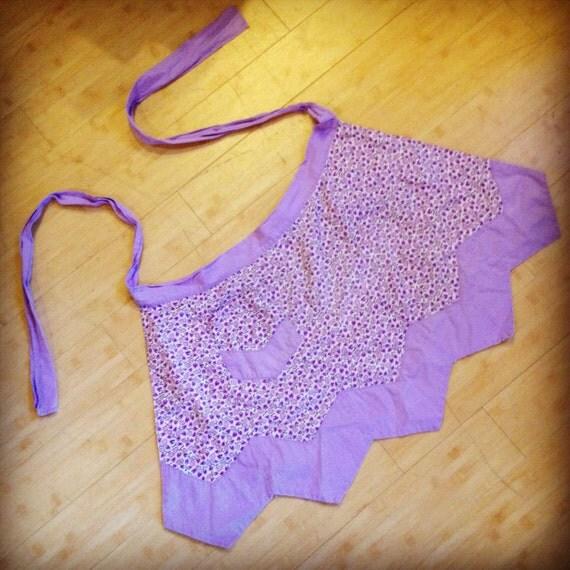 Sweet violet vintage apron