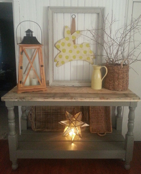 farmhouse table buffet by whitepinecrafters on Etsy