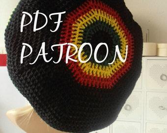 Pattern to make a Rasta Hat to crochet. Annasoer original pattern, easy to follow!