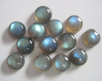 Lot of  Stunning 10 Pieces Labradorite Cabochon 10x10 mm Round  Loose Gemstone Calibrated