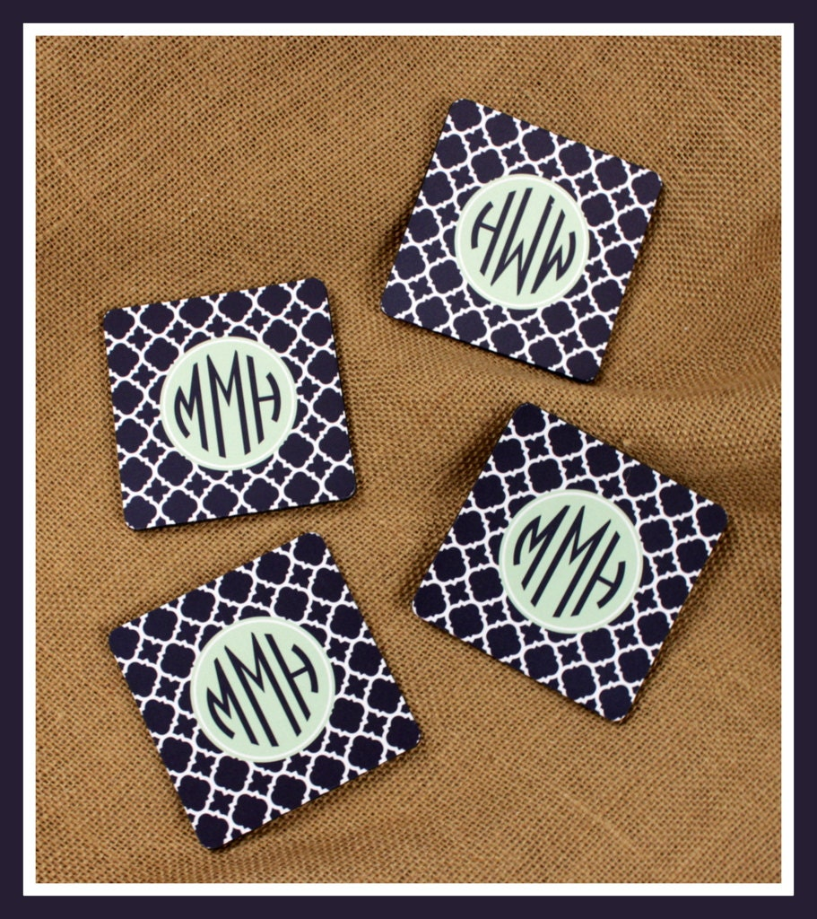 Personalized Coasters Custom Coasters Monogram Coasters Drink