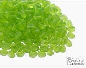 50 pcs Olivine Matte Czech Glass Pinch Beads 5x3,5 mm (8691)