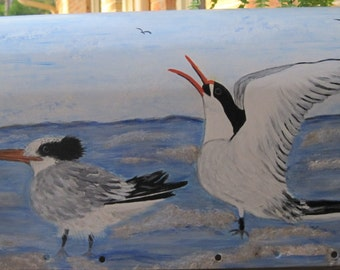 Hand Painted Custom Requested Royal Terns Mailbox