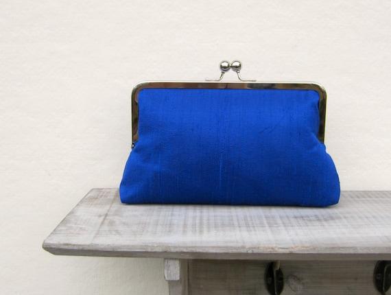 Royal blue bridal clutch bag, wedding clutch, royal blue bridesmaid ...
