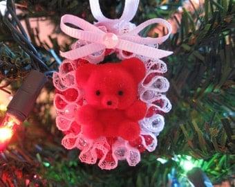 Christmas Ornament Red Bear