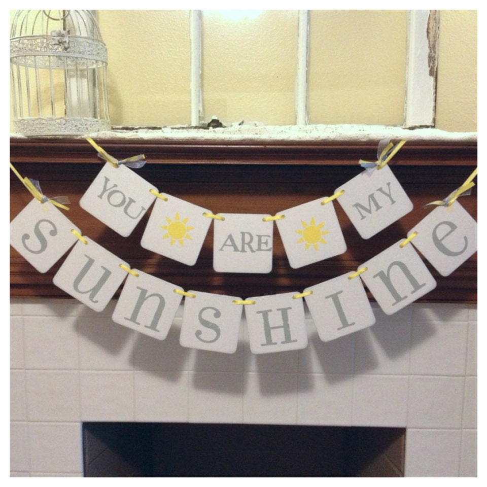 Banners For Bedrooms: You Are My Sunshine Banner Nursery Child's Room Decor