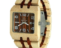 Wood Watch Handmade from Maple and Rosewood {Rainier}