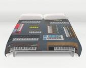 Synths Designer Duvet, colors duvet cover, sheets, artistic duvet, bedding, king duvet cover, queen duvet cover