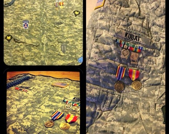 Military quilts out of uniforms made to order