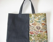 Canvas Nishijin Flat Bag 2