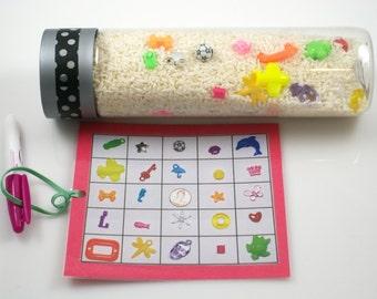 I Spy Bottle, Seek & Find Bottle. Preschool travel toy, Calm down bottle, sensory bottle, Special needs toy, Montessori material, fidget toy